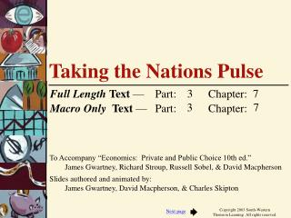 Taking the Nations Pulse
