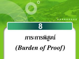 ภาระการพิสูจน์  ( Burden of Proof )