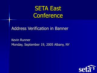 SETA East Conference