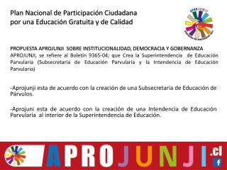 Plan Nacional de Participación Ciudadana por una Educación Gratuita y de Calidad