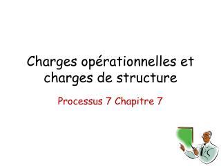 Charges opérationnelles et charges de structure