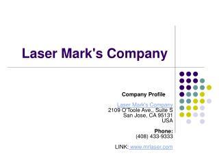 Laser Mark's Company