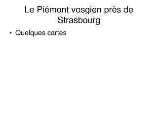 Le Piémont vosgien près de Strasbourg