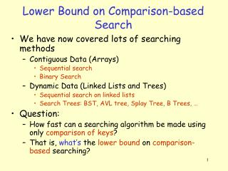 Lower Bound on Comparison-based Search