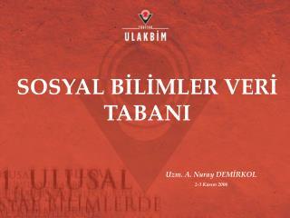 SOSYAL BİLİMLER VERİ TABANI