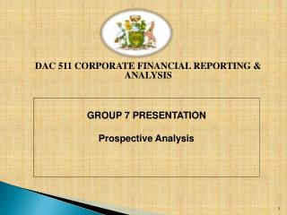 DAC 511  CORPORATE FINANCIAL REPORTING & ANALYSIS