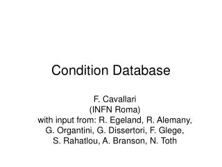Condition Database