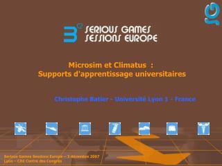 Microsim et Climatus  :  Supports d'apprentissage universitaires