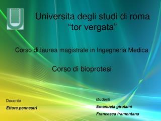 Universita degli studi di roma �tor vergata�