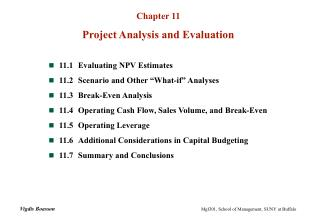 Chapter 11 Project Analysis and Evaluation