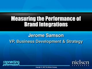 Measuring the Performance of Brand Integrations