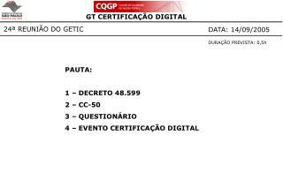 24ª REUNIÃO DO GETIC