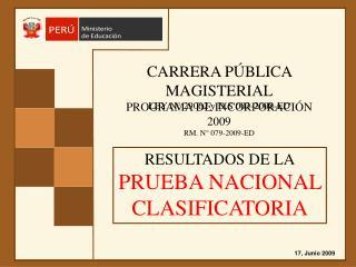 CARRERA PÚBLICA MAGISTERIAL LEY N° 29062 y D.S 003-2008-ED