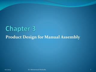 Product Design for Manual Assembly