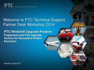 Welcome to PTC Technical Support Partner Desk  Workshop 2014