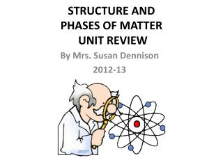 STRUCTURE AND  PHASES OF MATTER  UNIT REVIEW
