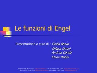 Le funzioni di Engel