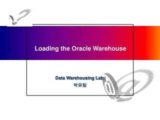 Loading the Oracle Warehouse