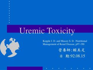 Uremic Toxicity