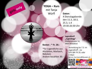 YOGA – Kurs  mit Tanja  Würfl