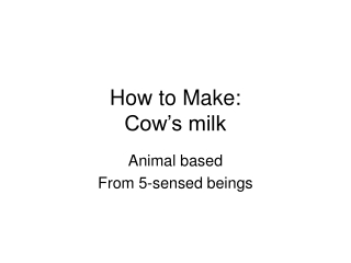 INSEMINATION OF COW