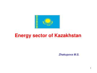 Energy sector of Kazakhstan Zhakupova M.S.