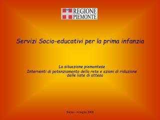 Servizi Socio-educativi per la prima infanzia