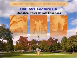 ChE 551 Lecture 04