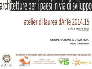 COOPERAZIONE & DIDATTICA Irene Caltabiano