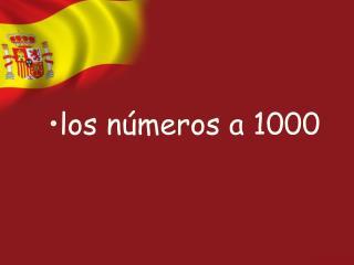 los números a 1000
