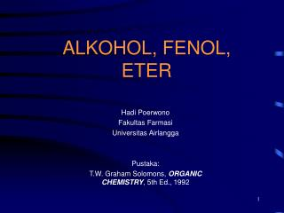 ALKOHOL, FENOL, ETER