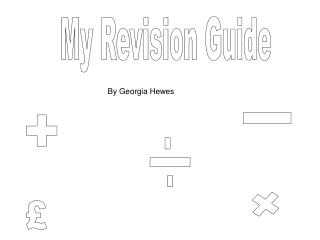 My Revision Guide