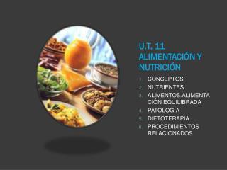 U.T. 11 ALIMENTACIÓN Y NUTRICIÓN