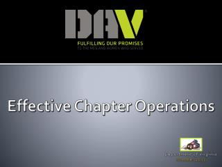 Effective Chapter Operations