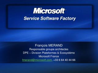 Service Software Factory