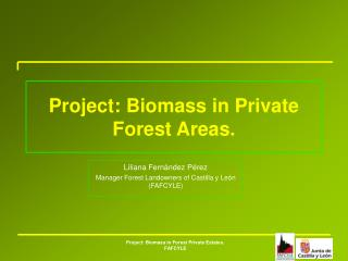 Project: Biomass in Private Forest Areas.