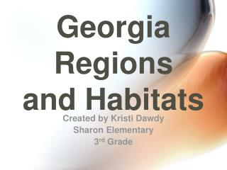 Georgia Regions and Habitats
