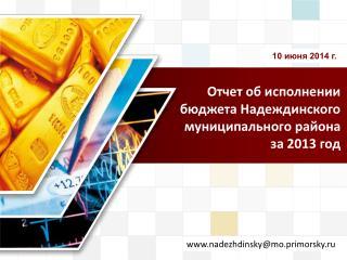 Отчет об исполнении бюджета Надеждинского муниципального района за 2013 год