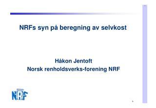NRFs syn p� beregning av selvkost