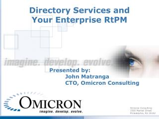 Directory Services and Your Enterprise RtPM