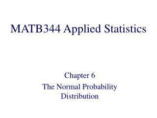 MATB344 Applied Statistics