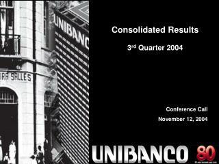 Conference Call  November 12, 2004