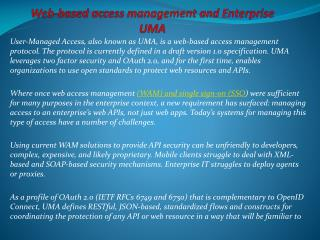 web-based access management and Enterprise UMA