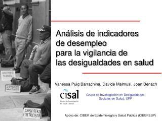 Análisis de indicadores  de desempleo  para la vigilancia de  las desigualdades en salud