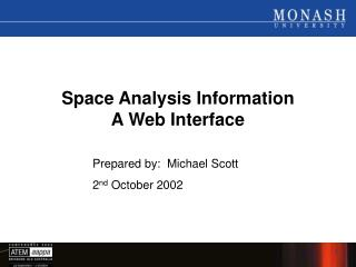 Space Analysis Information A Web Interface