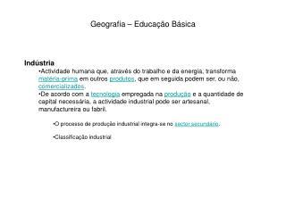 Geografia – Educação Básica