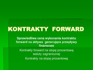 KONTRAKTY  FORWARD