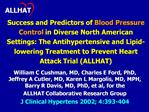 Success and Predictors of Blood Pressure Control in Diverse North American Settings: The Antihypertensive and Lipid-lowe