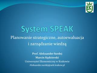 System SPEAK