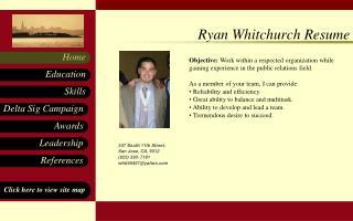 Ryan Whitchurch Resume
